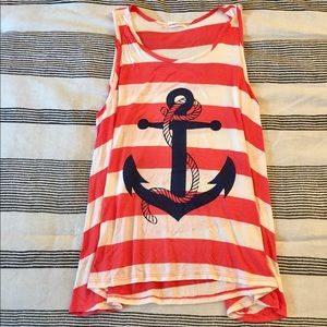 NWOT Striped anchor tank